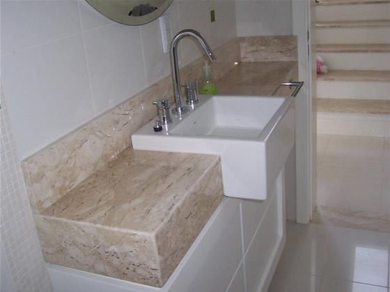 Ambientes & Ideias Banheiro  Uma breve história da evolução desse cômodo -> Pia Banheiro Semi Encaixe