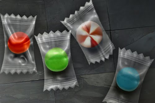 Photoshop Tutorial: Candy in a Plastic Wrapper