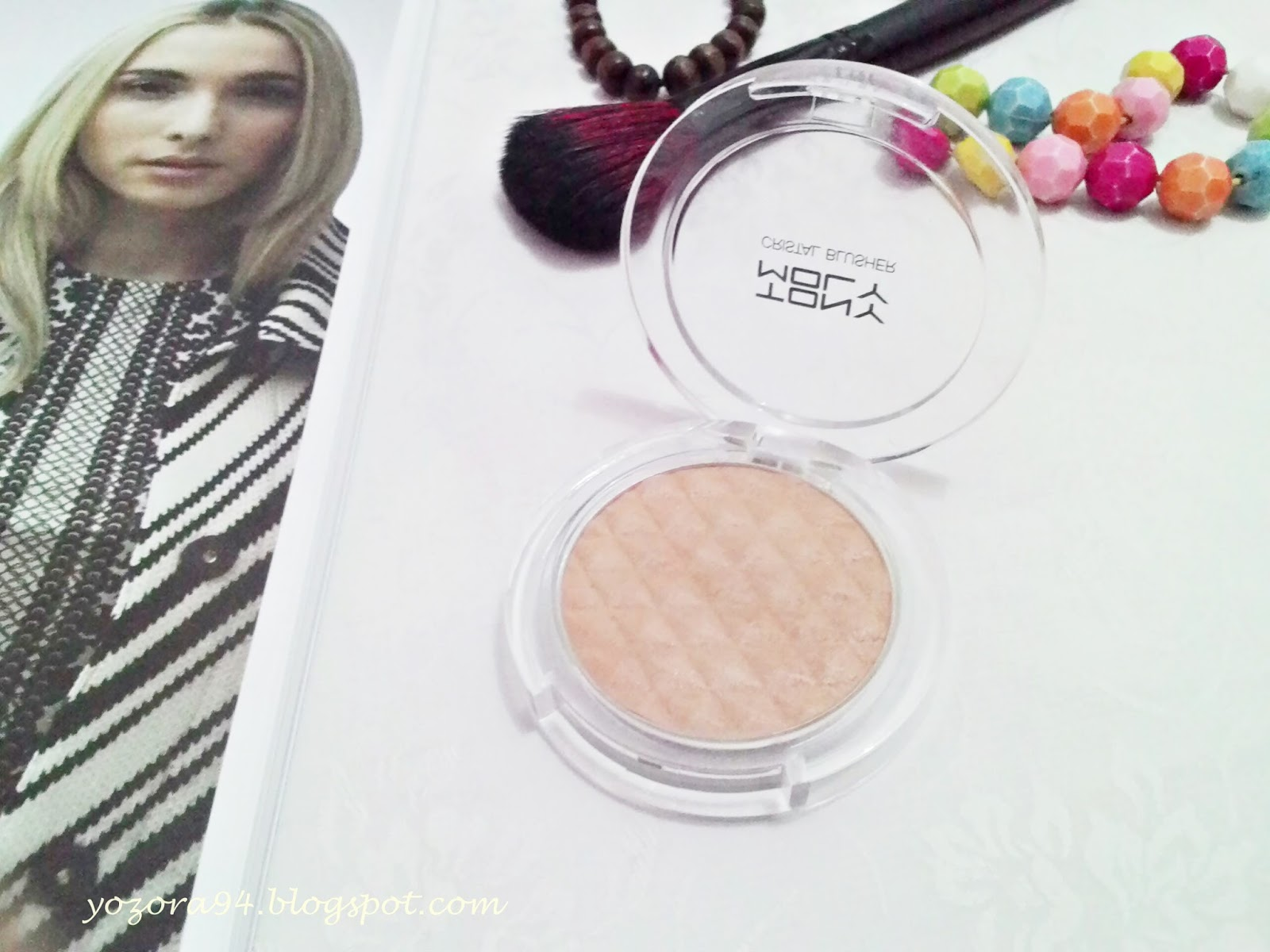 Review tony moly crystal blusher in sugar brown ells beauty even pony korean makeup artist using this shade often for nose shading at her video tutorial baditri Images