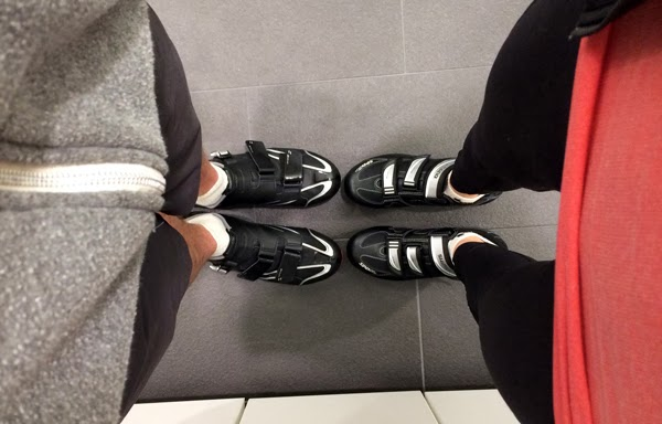 Rental clip-in shoes at SoulCycle