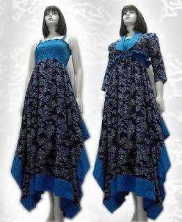 model-baju+batik+wanita+terbaru+warna+biru