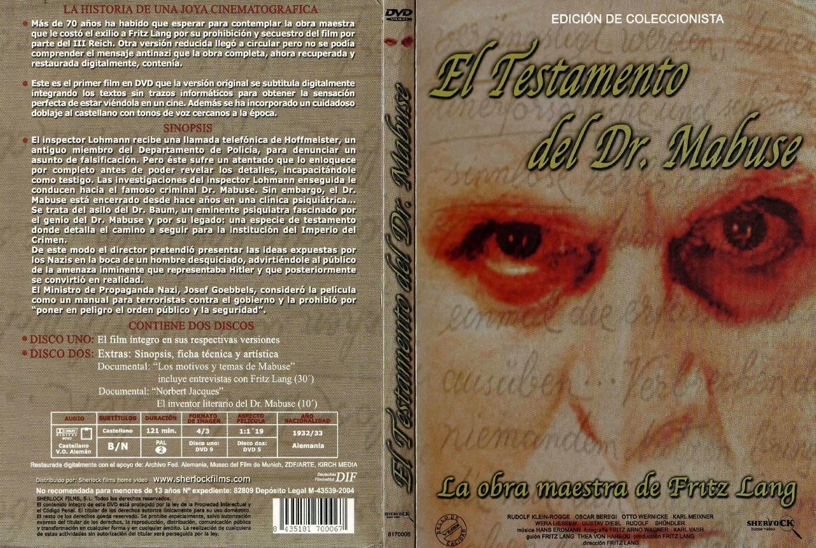 El testamento del Dr. Mabuse (1933 - Das testament des dr. Mabuse)