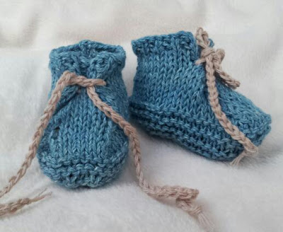 Knitted Baby Desert Boots, Baby Boots, Booties, Cool Baby boots