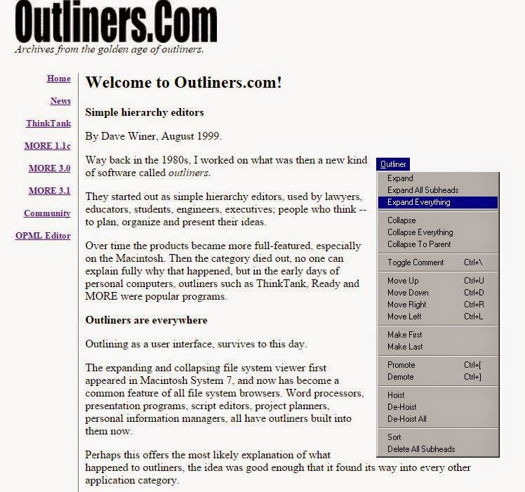 Outliners.com Dave Winer