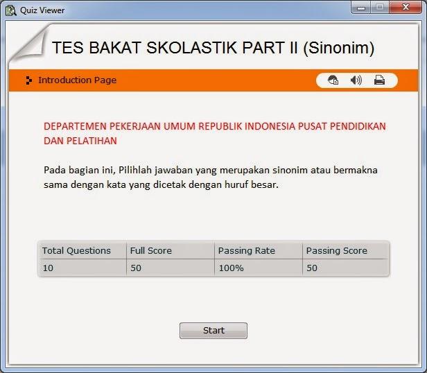 Kemen PANRB : ( Kisi - Kisi ) Materi Tes Kompetensi Dasar (TKD) CPNS 2014