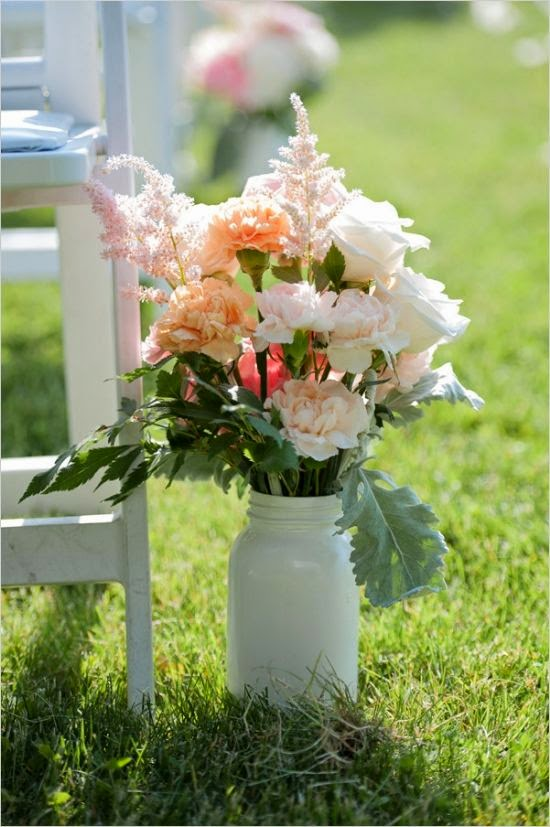 rustic garden aisle decorations