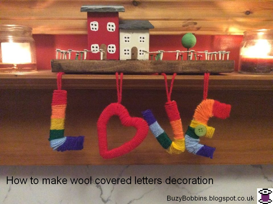 letters covered in wool