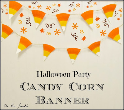 candy corn banner using paper plates