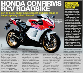 Magazine article - Needless to say Honda has everyone salivating