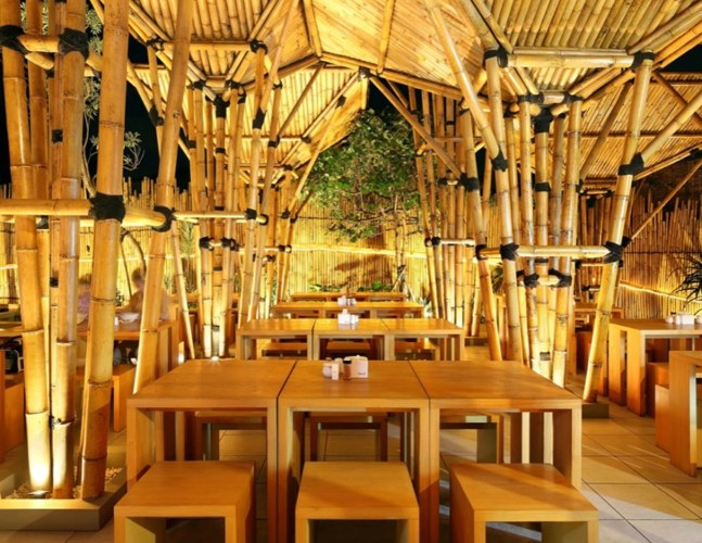 Classic culture asian resturant cafe bamboo architecture
