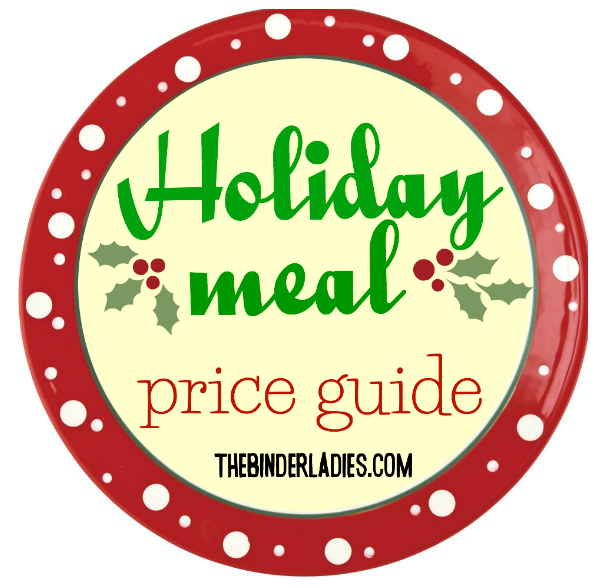 http://www.thebinderladies.com/2014/12/holiday-meal-price-guide.html#.VItcXofduyM