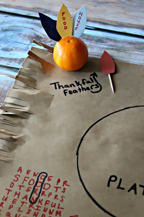 Fun and Interactive Kids Thanksgiving Placemats
