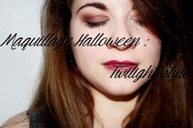 Maquillage halloween twilight vampire