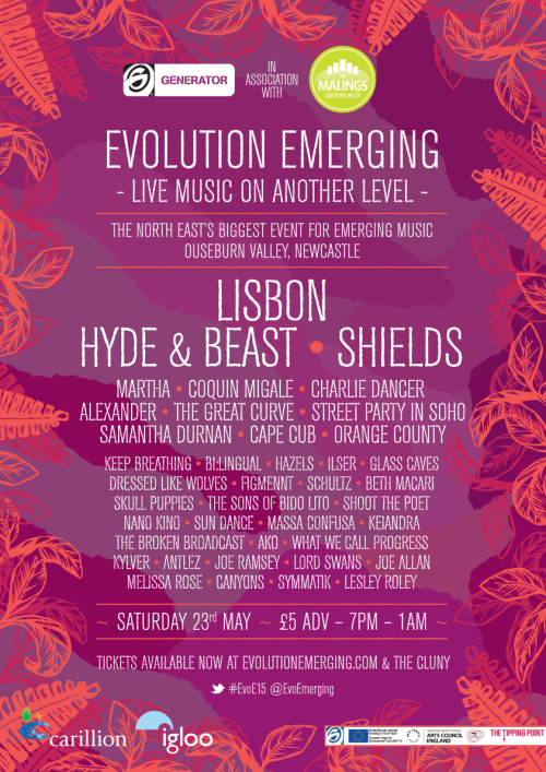 COMPETITION TIME Win 2 tickets to Evolution Emerging festival 2015