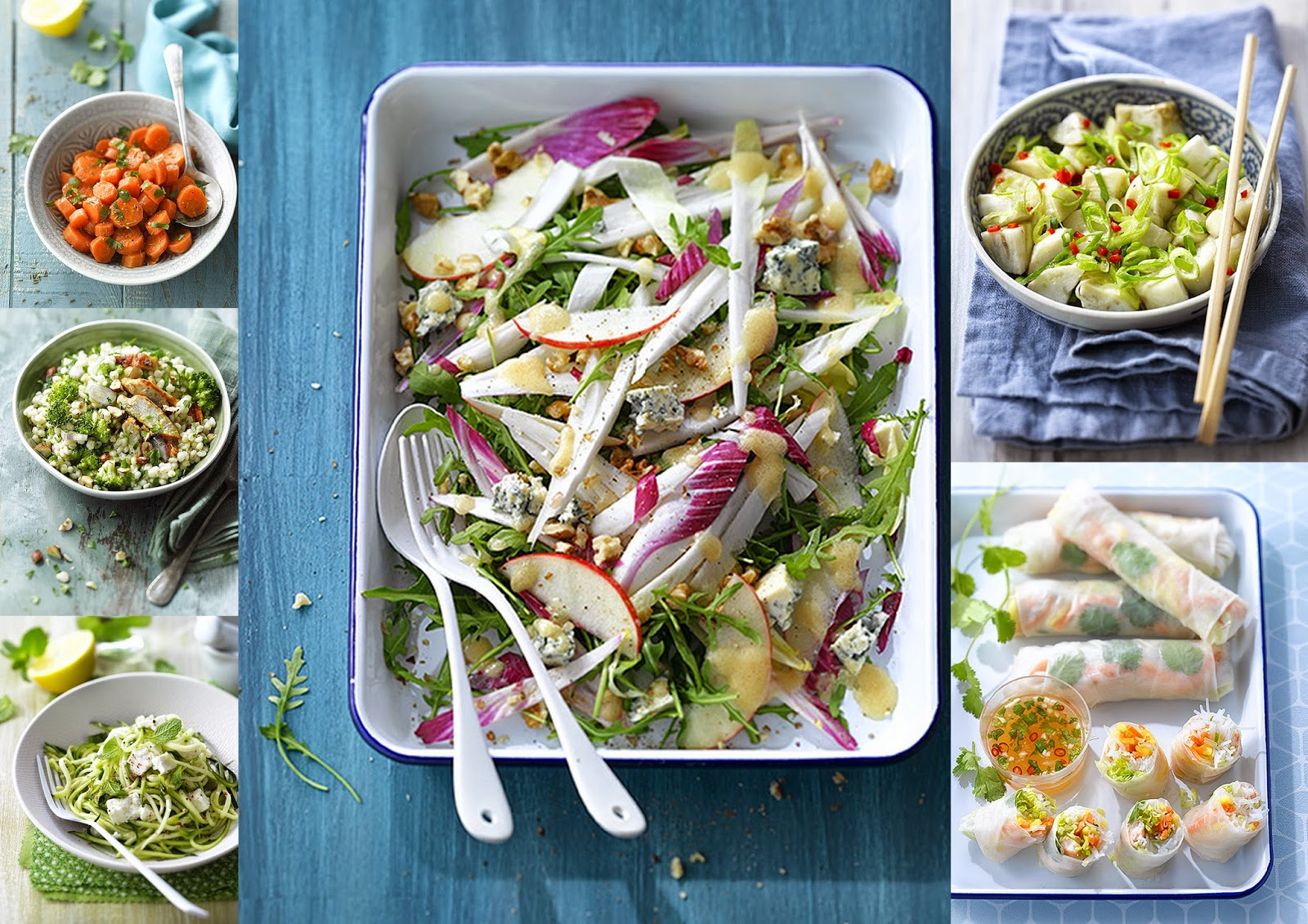 Gourmandises et merveilles salades mon nouveau livre - Hachette cuisine fait maison ...