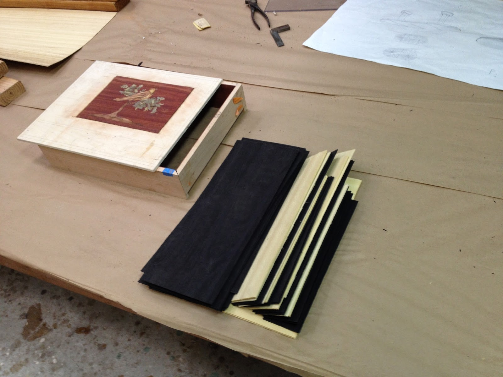 Treasure Box - Series #2 - Post #12: Sides Marquetry incrustation