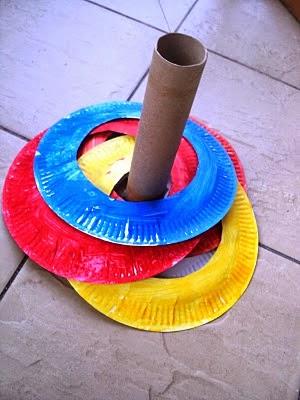 http://alittlelearningfortwo.blogspot.com/2010/11/paper-plate-ring-toss-game.html