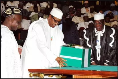 Buhari during the 2016 budget presentation to the National Assembly.