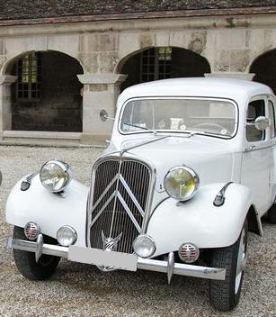 voiture traction blanche de location pour mariage