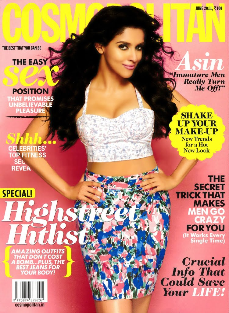Asin Hot Cleavage in Cosmopolitian Magazine Stills