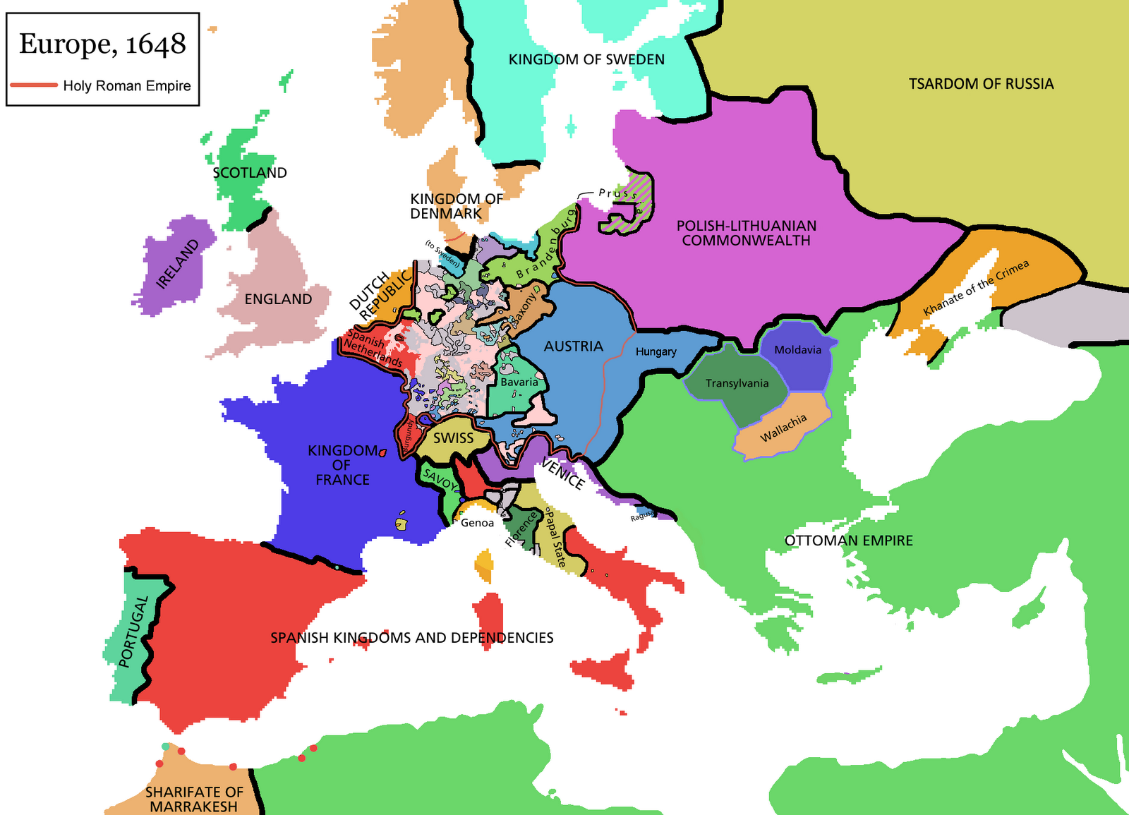 Doc herz map changes for world history students this next map shows europe in 1648 after the thirty years war ended can you see if there are any lands which charles v ruled which are no longer under gumiabroncs Choice Image