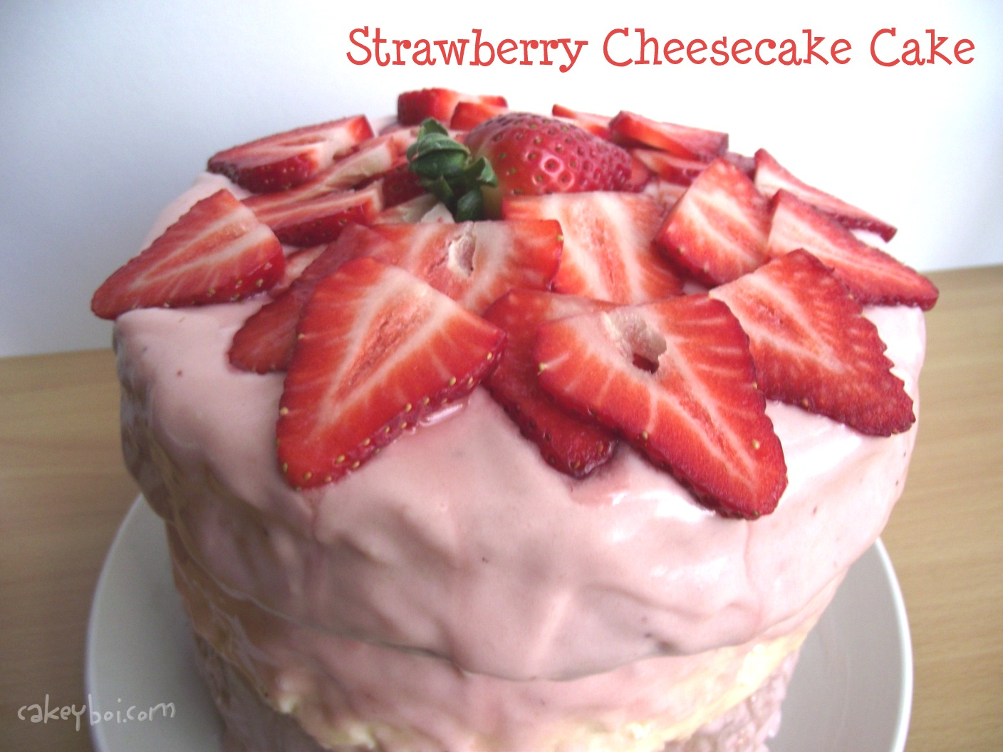 Cakeyboi: Strawberry Cheesecake Cake for Cake Club