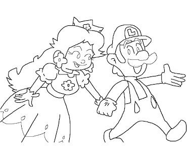 #11 Luigi Coloring Page
