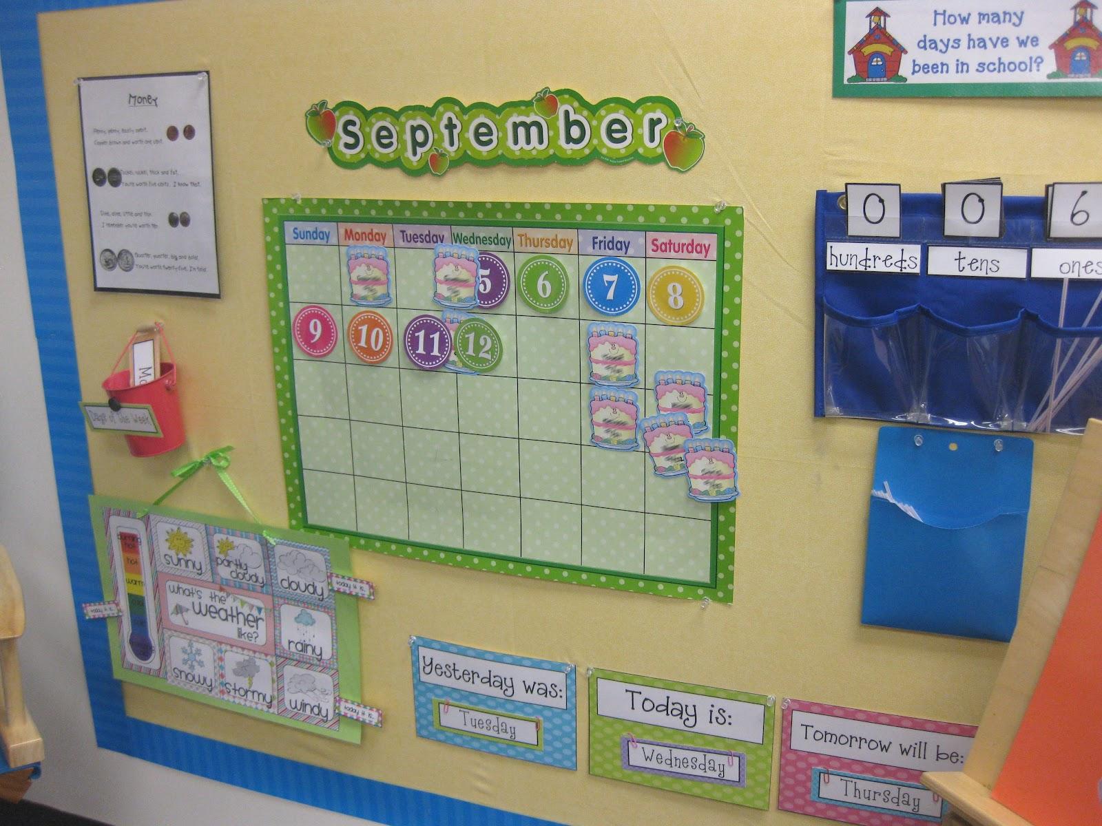 Classroom Calendar Ideas : Classroom setup kindergarten morning