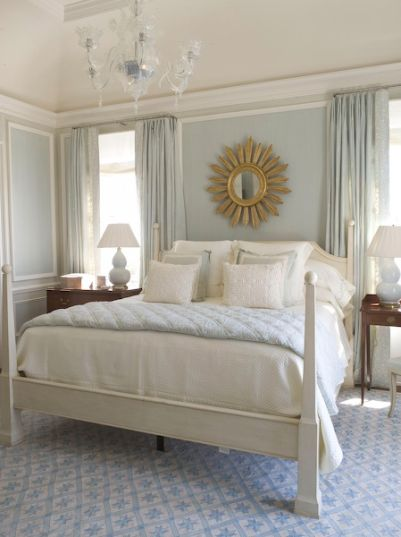shorely chic sunburst mirrors in the bedroom