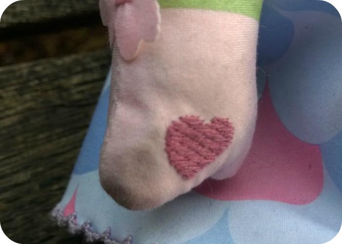 Mooshka Sing Around the Rosie Doll - Myra - Heart on hand#