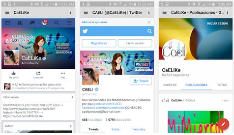 CAELIKE siempre informado de los vídeos de Caeli.