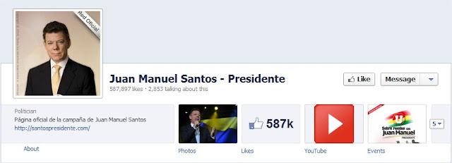 Juan Manuel Santos Facebook
