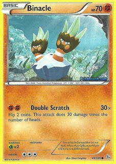 Binacle Flashfire Pokemon Card