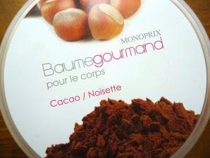 [Monoprix] Baume gourmand cacao/noisettes