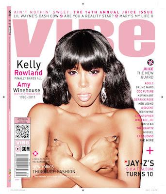 >Kelly Rowland en couv' de Vibe Magazine