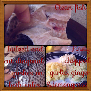 clean tilapia fish