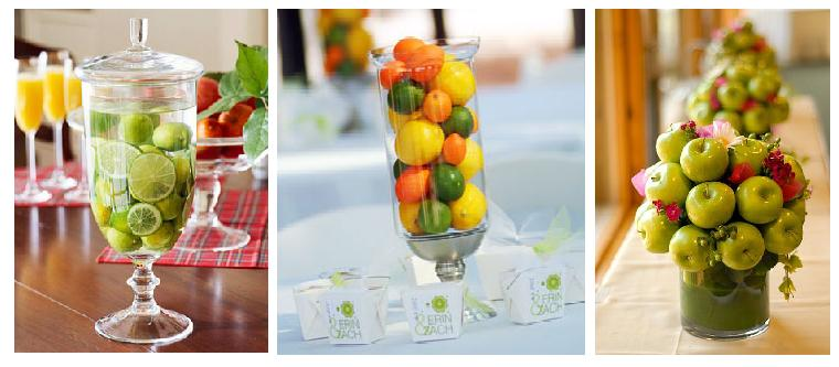 Fruit One of the biggest trends for 2011 is using fruit as your centerpiece
