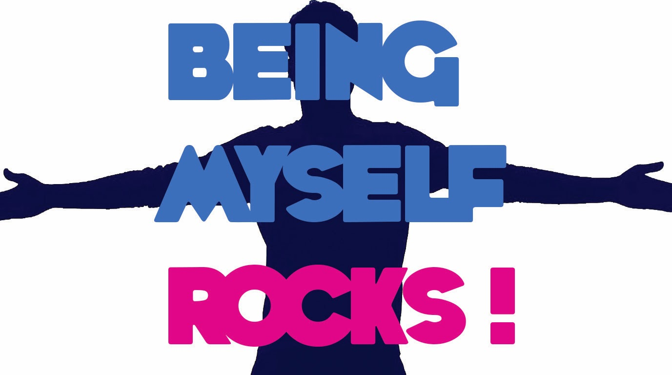 Being Myself Rocks- Motivation wallpaper