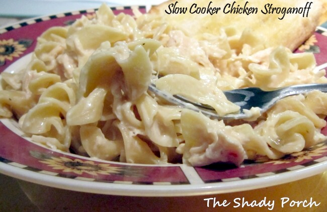 Slow Cooker Chicken Stroganoff  #recipe #chicken #slowcooker #stroganoff #dinner