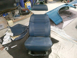 New upholstery Volvo Amazon drivers seat