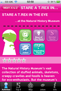 London Unlocked iPhone / iPad App and Guide Book, National History Museum