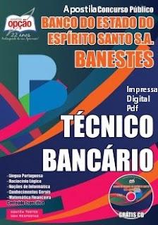 Apostila do BANESTES 2015 Técnico Bancário, nível Médio