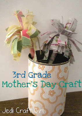 Jedi craft girl 3rd grade mother 39 s day craft for Crafts for 3rd graders