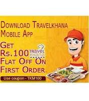 Download Travelkhana App & get  Flat Rs. 100 OFF:buytoearn
