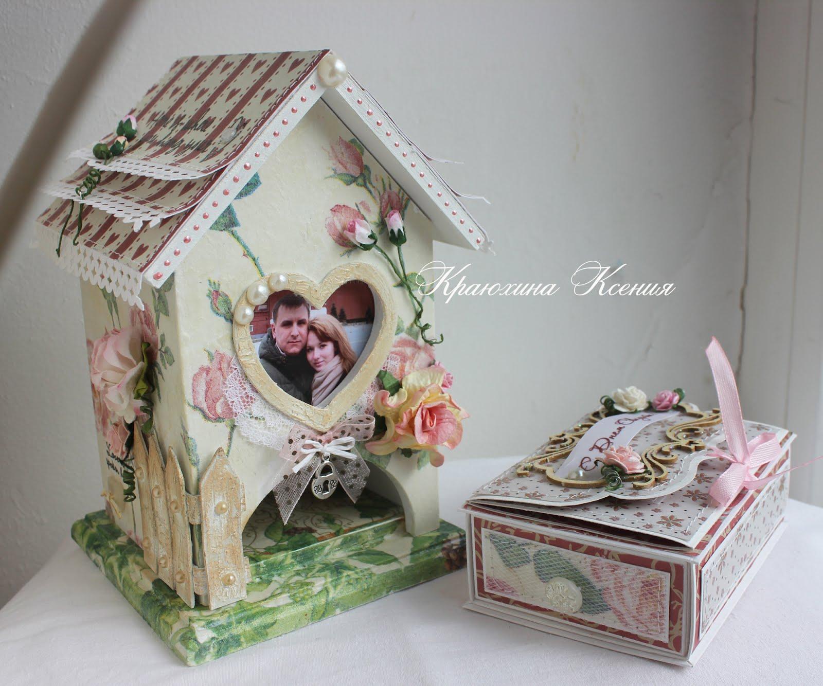 Чайный домик своими руками из чайной коробки