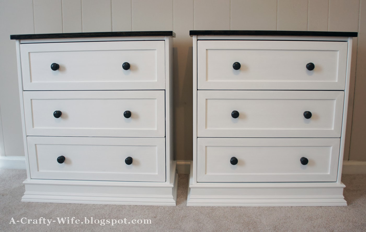 A crafty wife ikea rast hack part 2 the finishing touches for Bedroom dressers ikea