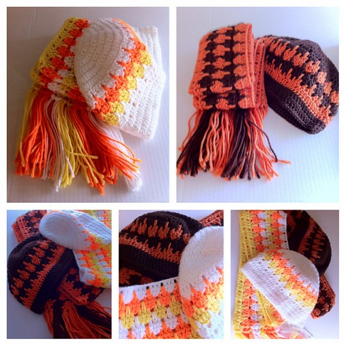 Free Crochet Patterns For Childrens Hats And Scarves : Crochet For Children: Fall hats and scarves - Free pattern