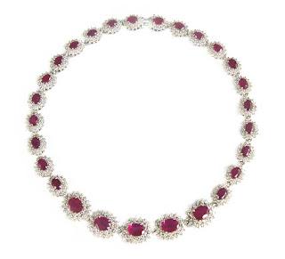 colar de rubi e diamantes, joias preciosas