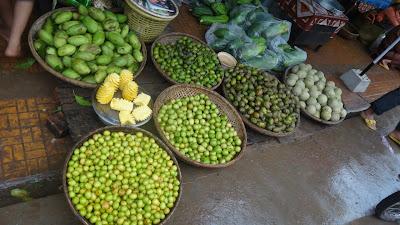 Зелень, фрукты, рынок, азия, вьетнам, камбоджа