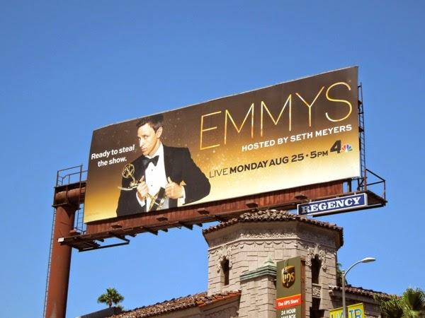 Seth Meyers Emmys 2014 billboard